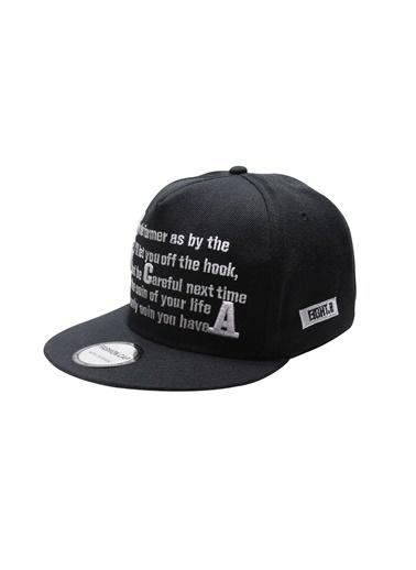 Laslusa Yazili Hip Hop Snapback Şapka Siyah